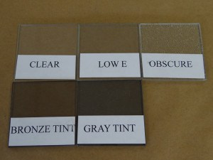 Glass color and tint types