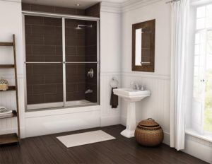 framed bypass sliding shower door