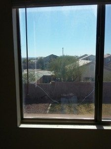 broken dual pane window before