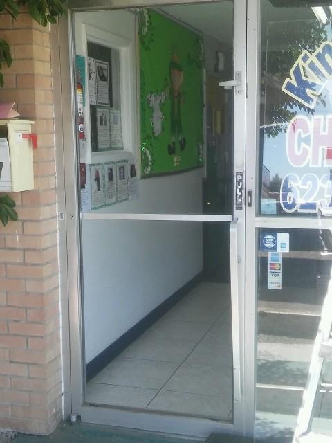 Single Glass Storefront Door storefront glass replacement repair company phoenix
