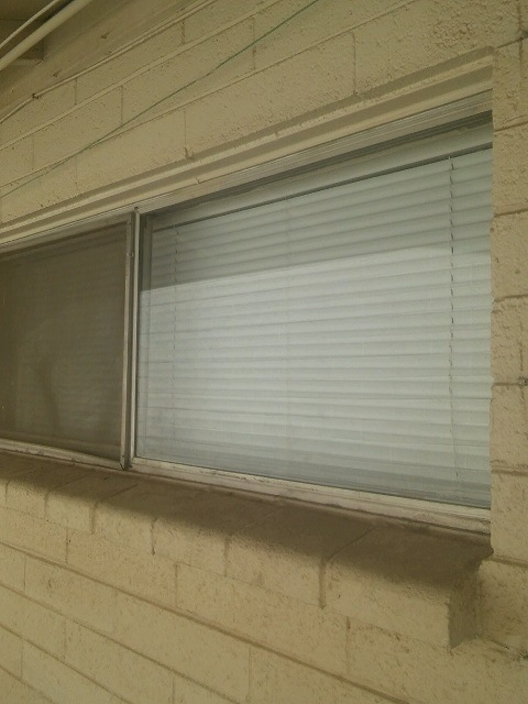 single pane window being replaced in Phoenix
