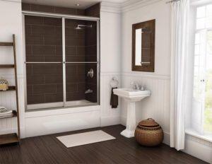 framed bypass sliding shower door