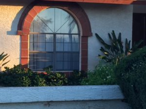 residential tinted window that was repaired