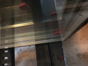 mill spacer in between panes of glass