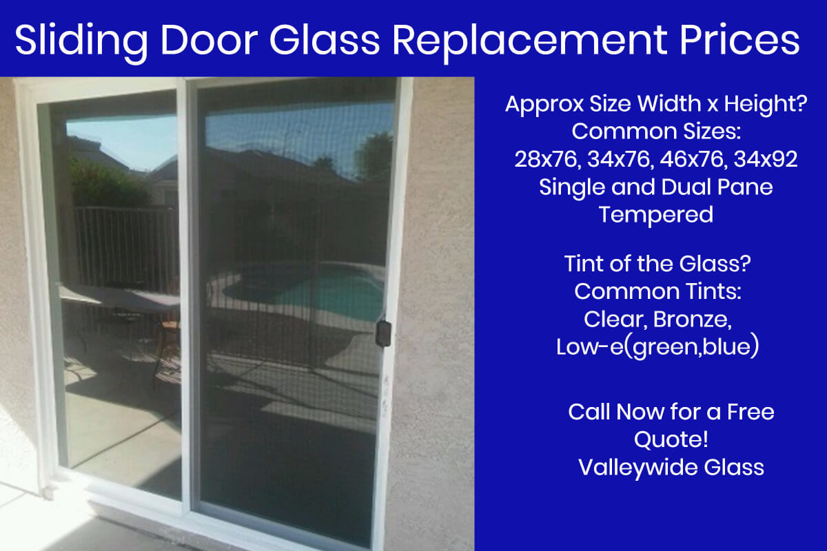 sliding glass door replacements by Valleywide Glass LLC - Sliding Patio Door Glass Replacement - Valleywide Glass